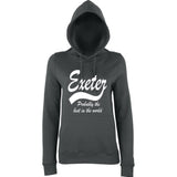 "[daataadirect.co.uk]-EXETER Probably The Best City In The World Womens Hoodies White-Hoodies-AWD-Charcoal-XS UK 8 Euro 32 Bust 30""-Daataadirect"
