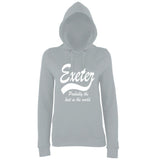 "[daataadirect.co.uk]-EXETER Probably The Best City In The World Womens Hoodies White-Hoodies-AWD-Heather Grey-XS UK 8 Euro 32 Bust 30""-Daataadirect"
