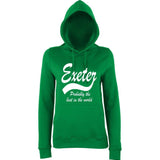 "[daataadirect.co.uk]-EXETER Probably The Best City In The World Womens Hoodies White-Hoodies-AWD-Kelly Green-XS UK 8 Euro 32 Bust 30""-Daataadirect"