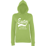 "[daataadirect.co.uk]-EXETER Probably The Best City In The World Womens Hoodies White-Hoodies-AWD-Lime Green-XS UK 8 Euro 32 Bust 30""-Daataadirect"