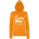 "[daataadirect.co.uk]-EXETER Probably The Best City In The World Womens Hoodies White-Hoodies-AWD-Orange Crush-XS UK 8 Euro 32 Bust 30""-Daataadirect"