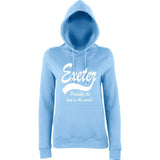 "[daataadirect.co.uk]-EXETER Probably The Best City In The World Womens Hoodies White-Hoodies-AWD-Sky Blue-XS UK 8 Euro 32 Bust 30""-Daataadirect"