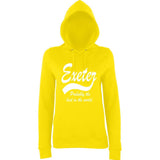 "[daataadirect.co.uk]-EXETER Probably The Best City In The World Womens Hoodies White-Hoodies-AWD-Sun Yellow-XS UK 8 Euro 32 Bust 30""-Daataadirect"