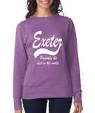 EXETER Probably The Best City In The World Womens SweatShirts White-ANVIL-Daataadirect.co.uk