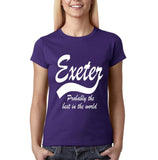 EXETER Probably The Best City In The World Womens T Shirts White-Gildan-Daataadirect.co.uk