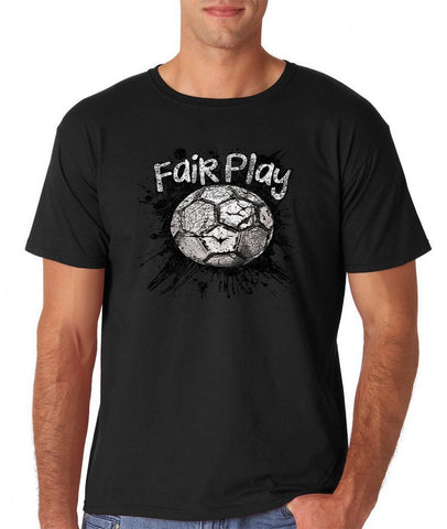 Fair Play Football B/W Men T Shirt-Gildan-Daataadirect.co.uk