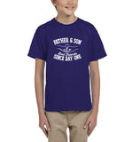 Father & Son Best Friend Since day One Kids T Shirts White-T Shirts-Gildan-Cobalt-YXS (3-5 Year)-Daataadirect