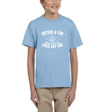 Father & Son Best Friend Since day One Kids T Shirts White-T Shirts-Gildan-Light Blue-YXS (3-5 Year)-Daataadirect