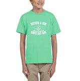 Father & Son Best Friend Since day One Kids T Shirts White-T Shirts-Gildan-Mint Green-YXS (3-5 Year)-Daataadirect