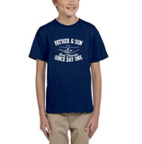Father & Son Best Friend Since day One Kids T Shirts White-T Shirts-Gildan-Navy Blue-YXS (3-5 Year)-Daataadirect