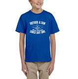 Father & Son Best Friend Since day One Kids T Shirts White-T Shirts-Gildan-Royal Blue-YXS (3-5 Year)-Daataadirect