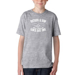 Father & Son Best Friend Since day One Kids T Shirts White-T Shirts-Gildan-Sport Grey-YXS (3-5 Year)-Daataadirect