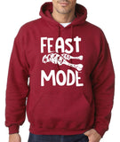 "Feast Mode Mens Hoodies White-Hoodies-Gildan-antique cherry-S To Fit Chest 36-38"" (91-96cm)-Daataadirect"