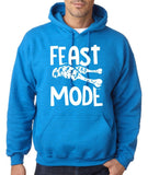 "Feast Mode Mens Hoodies White-Hoodies-Gildan-antique sapphire -S To Fit Chest 36-38"" (91-96cm)-Daataadirect"