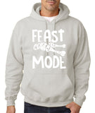 "Feast Mode Mens Hoodies White-Hoodies-Gildan-Ash-S To Fit Chest 36-38"" (91-96cm)-Daataadirect"