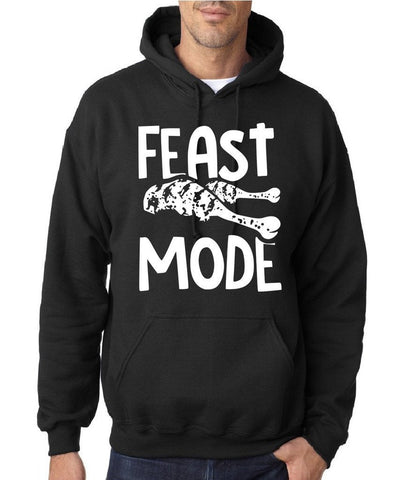 "Feast Mode Mens Hoodies White-Hoodies-Gildan-black -S To Fit Chest 36-38"" (91-96cm)-Daataadirect"