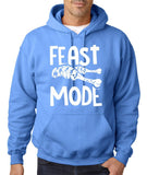 "Feast Mode Mens Hoodies White-Hoodies-Gildan-carolina blue-S To Fit Chest 36-38"" (91-96cm)-Daataadirect"