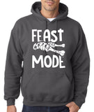 "Feast Mode Mens Hoodies White-Hoodies-Gildan-charcoal-S To Fit Chest 36-38"" (91-96cm)-Daataadirect"