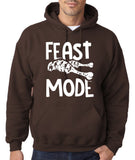 "Feast Mode Mens Hoodies White-Hoodies-Gildan-dark chocolate-S To Fit Chest 36-38"" (91-96cm)-Daataadirect"