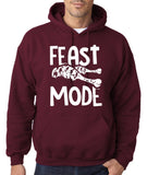 "Feast Mode Mens Hoodies White-Hoodies-Gildan-Garnet-S To Fit Chest 36-38"" (91-96cm)-Daataadirect"