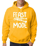 "Feast Mode Mens Hoodies White-Hoodies-Gildan-Gold-S To Fit Chest 36-38"" (91-96cm)-Daataadirect"