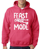 "Feast Mode Mens Hoodies White-Hoodies-Gildan-heliconia-S To Fit Chest 36-38"" (91-96cm)-Daataadirect"
