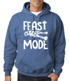 "Feast Mode Mens Hoodies White-Hoodies-Gildan-Indigo blue-S To Fit Chest 36-38"" (91-96cm)-Daataadirect"