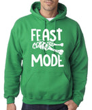 "Feast Mode Mens Hoodies White-Hoodies-Gildan-irish green-S To Fit Chest 36-38"" (91-96cm)-Daataadirect"