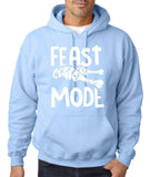 "Feast Mode Mens Hoodies White-Hoodies-Gildan-light blue-S To Fit Chest 36-38"" (91-96cm)-Daataadirect"