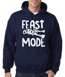 "Feast Mode Mens Hoodies White-Hoodies-Gildan-Navy blue -S To Fit Chest 36-38"" (91-96cm)-Daataadirect"
