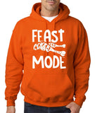 "Feast Mode Mens Hoodies White-Hoodies-Gildan-orange-S To Fit Chest 36-38"" (91-96cm)-Daataadirect"