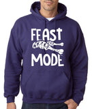 "Feast Mode Mens Hoodies White-Hoodies-Gildan-purple-S To Fit Chest 36-38"" (91-96cm)-Daataadirect"