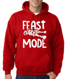 "Feast Mode Mens Hoodies White-Hoodies-Gildan-red-S To Fit Chest 36-38"" (91-96cm)-Daataadirect"