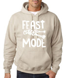 "Feast Mode Mens Hoodies White-Hoodies-Gildan-sand-S To Fit Chest 36-38"" (91-96cm)-Daataadirect"