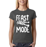 "Feast mode Womens T Shirt White-T Shirts-Gildan-charcoal-S UK 10 Euro 34 Bust 32""-Daataadirect"