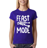 "Feast mode Womens T Shirt White-T Shirts-Gildan-Cobalt-S UK 10 Euro 34 Bust 32""-Daataadirect"