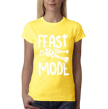 "Feast mode Womens T Shirt White-T Shirts-Gildan-Daisy-S UK 10 Euro 34 Bust 32""-Daataadirect"