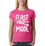 "Feast mode Womens T Shirt White-T Shirts-Gildan-Heliconia-S UK 10 Euro 34 Bust 32""-Daataadirect"