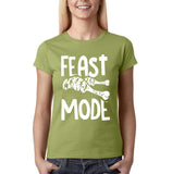 "Feast mode Womens T Shirt White-T Shirts-Gildan-kiwi-S UK 10 Euro 34 Bust 32""-Daataadirect"