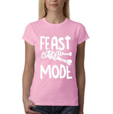 "Feast mode Womens T Shirt White-T Shirts-Gildan-light pink-S UK 10 Euro 34 Bust 32""-Daataadirect"
