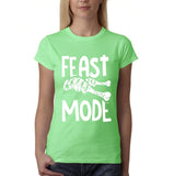 "Feast mode Womens T Shirt White-T Shirts-Gildan-Mint Green-S UK 10 Euro 34 Bust 32""-Daataadirect"