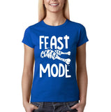 "Feast mode Womens T Shirt White-T Shirts-Gildan-Royal Blue-S UK 10 Euro 34 Bust 32""-Daataadirect"