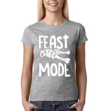 "Feast mode Womens T Shirt White-T Shirts-Gildan-Sport grey-S UK 10 Euro 34 Bust 32""-Daataadirect"