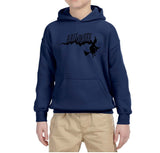 Flying Halloween Kids Hoodies-Gildan-Daataadirect.co.uk
