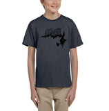 Flying Halloween Kids T Shirt-T Shirts-Gildan-charcoal-YXS (3-5 Year)-Daataadirect