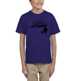 Flying Halloween Kids T Shirt-T Shirts-Gildan-cobalt-YXS (3-5 Year)-Daataadirect