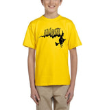 Flying Halloween Kids T Shirt-T Shirts-Gildan-daisy-YXS (3-5 Year)-Daataadirect