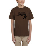 Flying Halloween Kids T Shirt-T Shirts-Gildan-Dk chocolate-YXS (3-5 Year)-Daataadirect