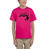 Flying Halloween Kids T Shirt-T Shirts-Gildan-heliconia-YXS (3-5 Year)-Daataadirect