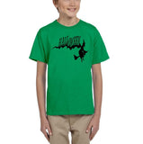 Flying Halloween Kids T Shirt-T Shirts-Gildan-irrish green-YXS (3-5 Year)-Daataadirect